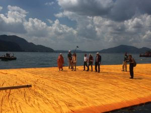 Christo on the floating piers